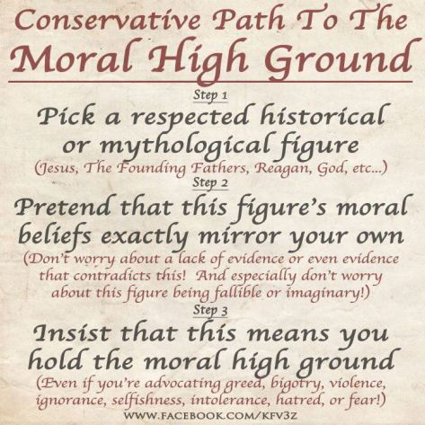 Conservative Moral High Ground