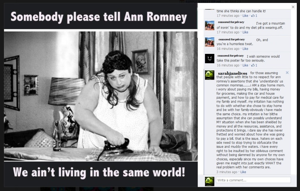 anne romney  statements