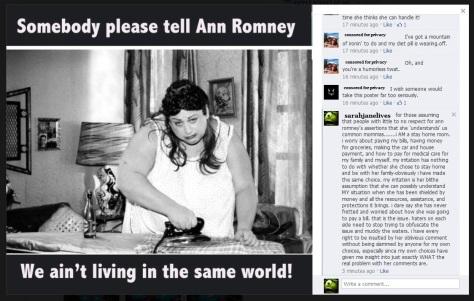 anne romney  statements
