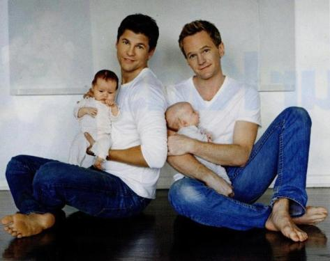 NPH & David Burtka With Twins