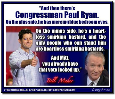 bill maher on paul ryan
