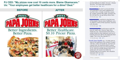 papa johns healthcare